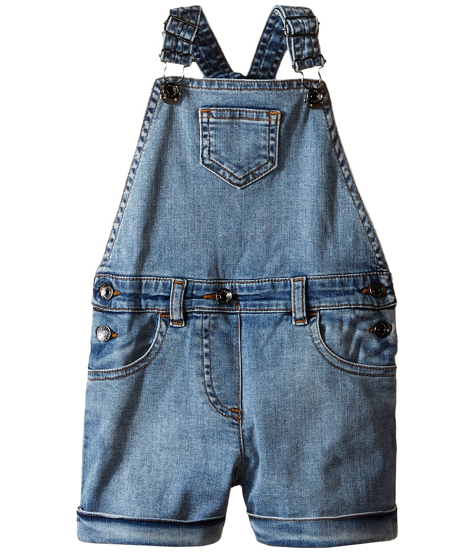 Dolce & Gabbana Kids - Denim Coveralls in Light Blue (Toddler/Little Kids) (Light Blue) Girl's Jumpsuit & Rompers One Piece