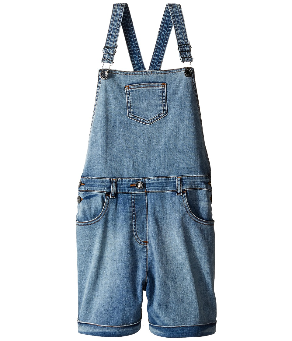 Dolce & Gabbana Kids - Denim Coveralls in Light Blue (Big Kids) (Light Blue) Girl's Jumpsuit & Rompers One Piece
