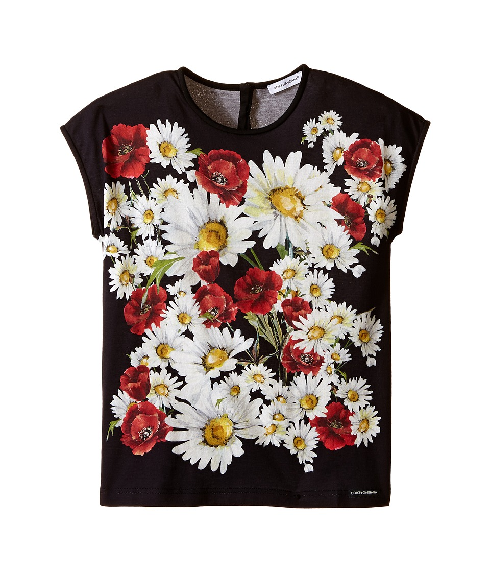 Dolce & Gabbana Kids - Fiori T-Shirt (Toddler/Little Kids) (White Flower Print) Girl's T Shirt