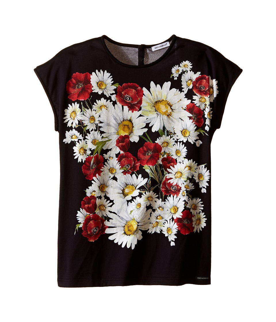Dolce & Gabbana Kids - Fiori T-Shirt (Big Kids) (White Flower Print) Girl's T Shirt