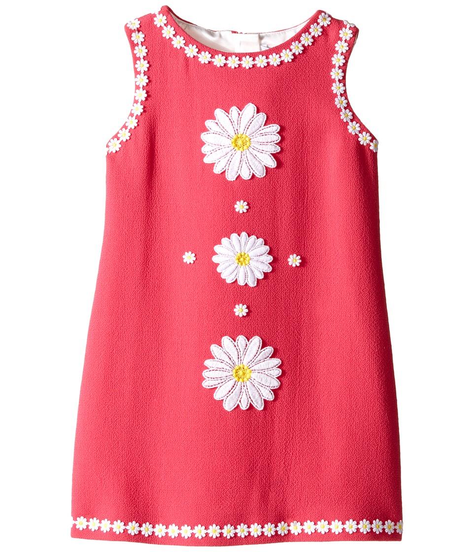 Dolce & Gabbana Kids - Wool Crepe Floral Dress (Toddler/Little Kids) (Fuchsia) Girl's Dress