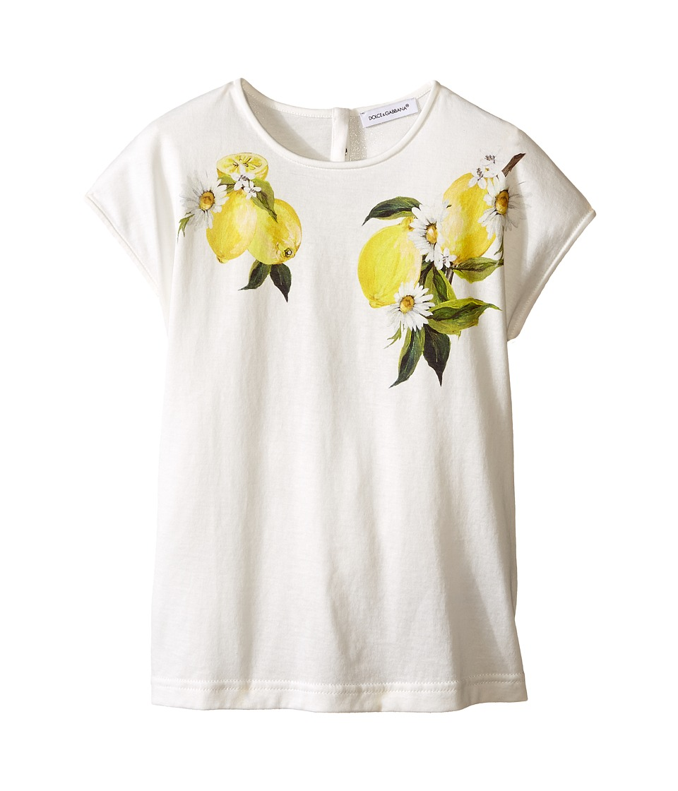 Dolce & Gabbana Kids - Limoni T-Shirt (Toddler/Little Kids) (White Lemon Print) Girl's T Shirt
