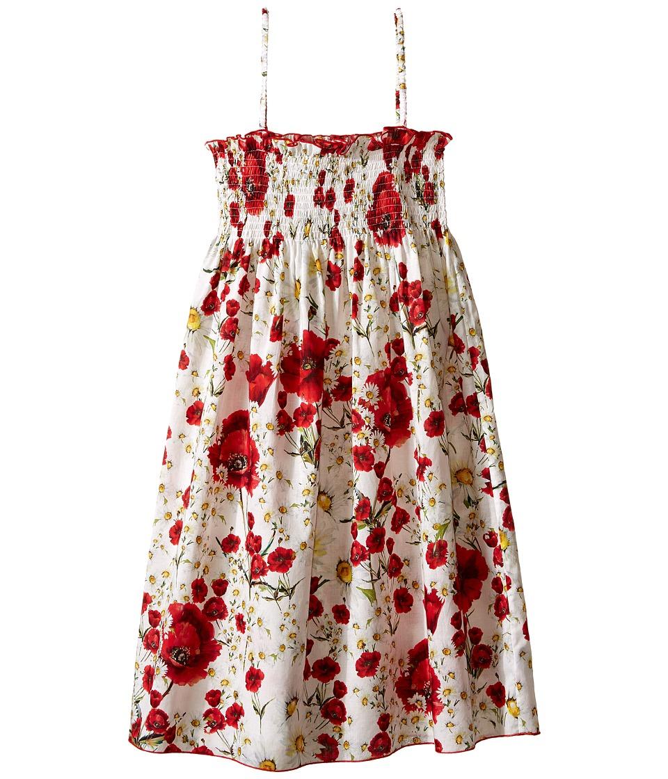 Dolce & Gabbana Kids - Margherite Dress (Big Kids) (White Flower Print) Girl's Dress
