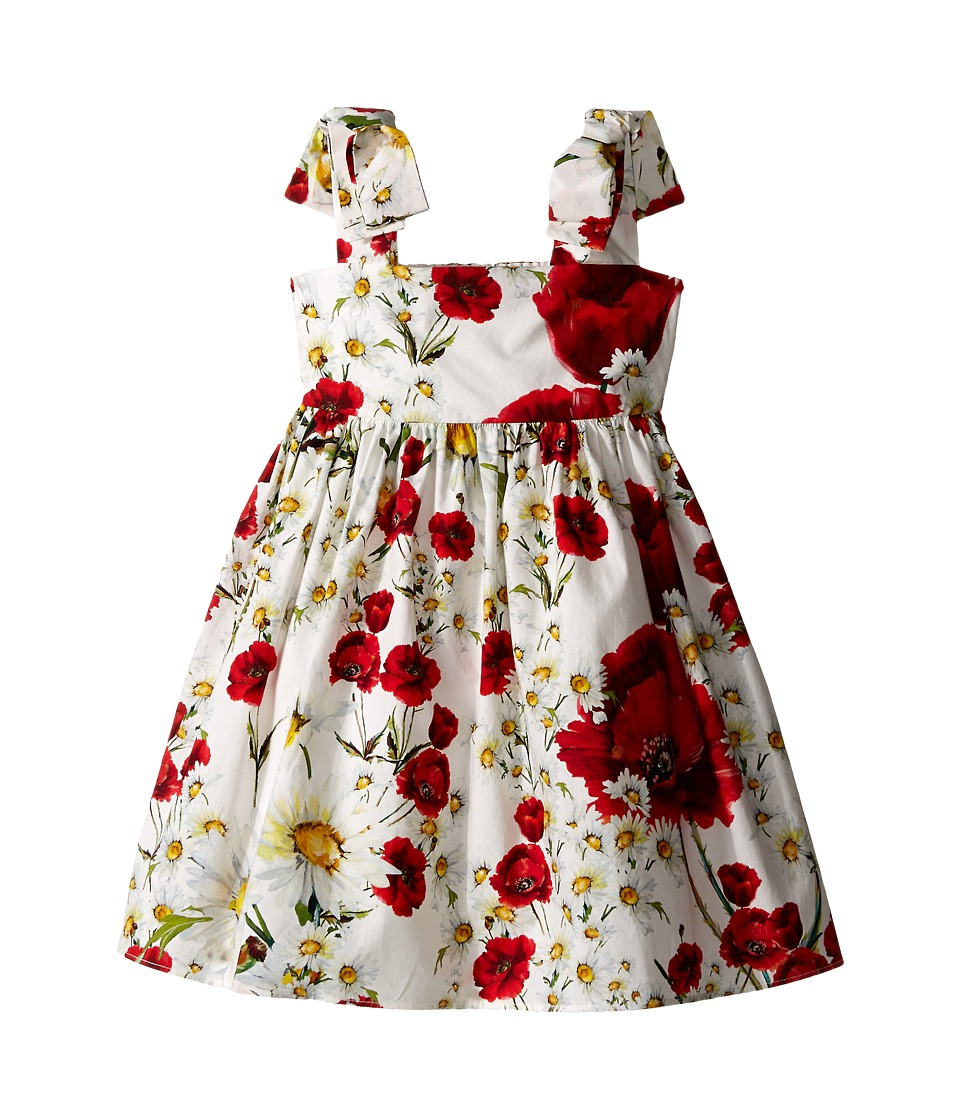 Dolce & Gabbana Kids - Fiori Dress (Toddler/Little Kids) (White Flower Print) Girl's Dress