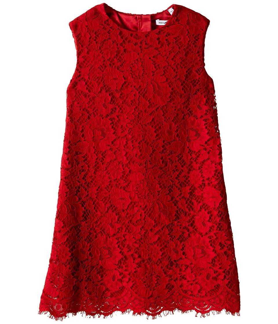 Dolce & Gabbana Kids - Lace Dress (Toddler/Little Kids) (Bright Red) Girl's Dress