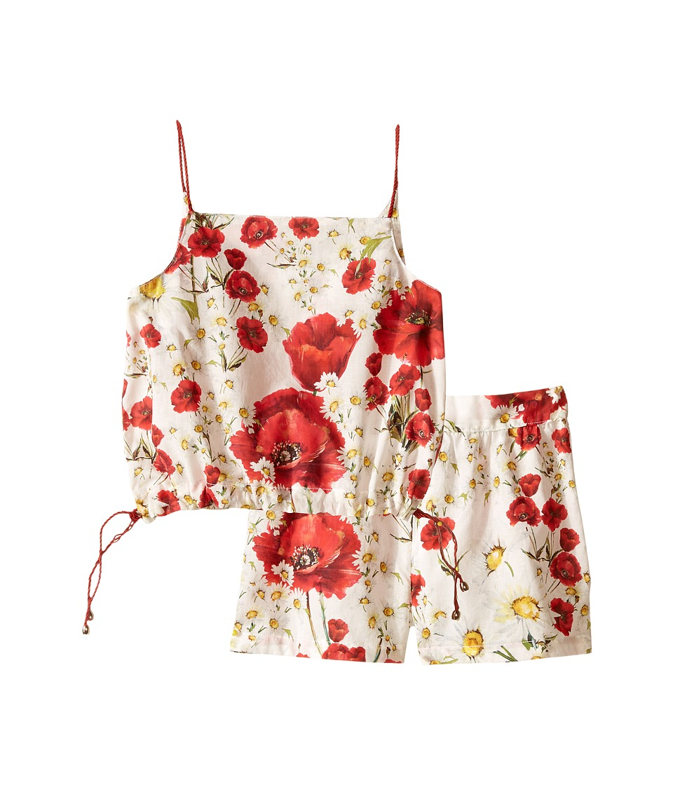 Dolce & Gabbana Kids - Margherite Swim Cover-Up (Toddler/Little Kids) (White Flower Print) Girl's Swimwear