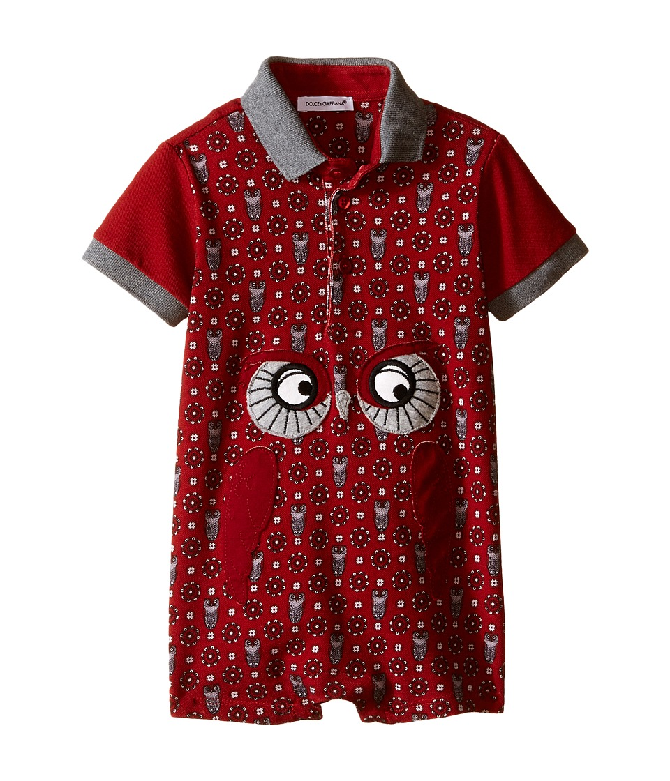Dolce & Gabbana Kids - Owl One-Piece (Infant) (Dark Red Print) Boy's Jumpsuit & Rompers One Piece