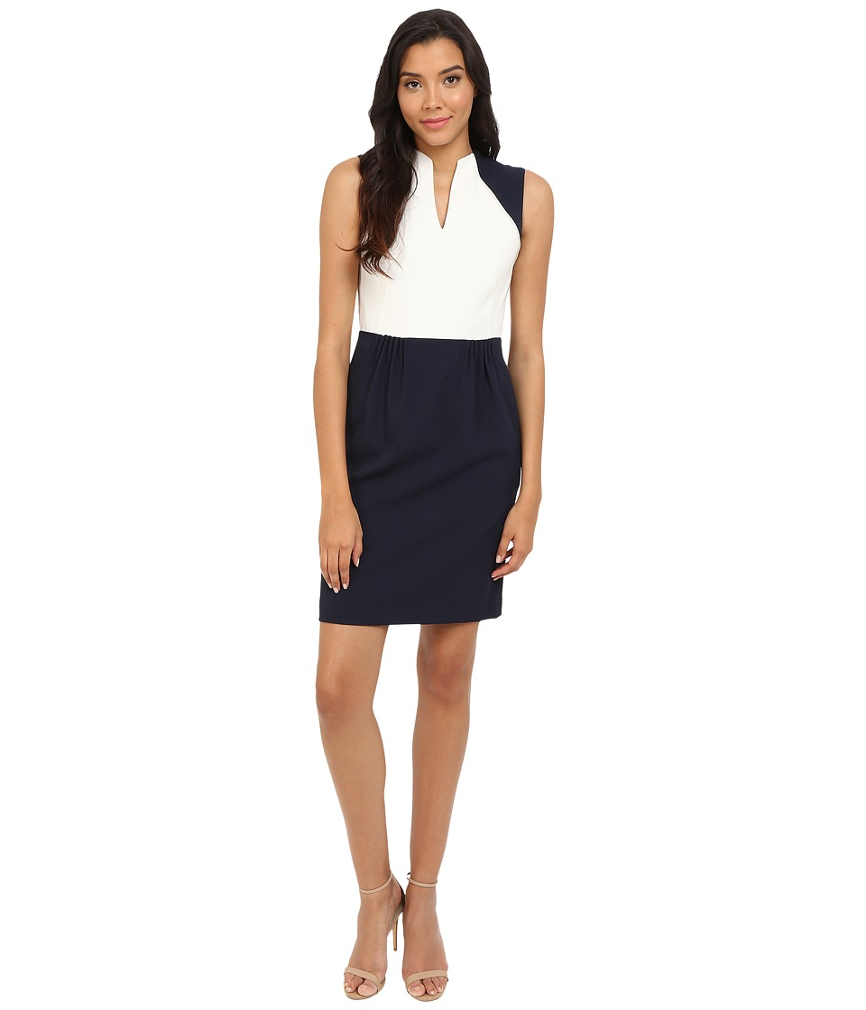 Tahari by ASL - Melissa - V Dress (Navy/Ivory) Women's Dress