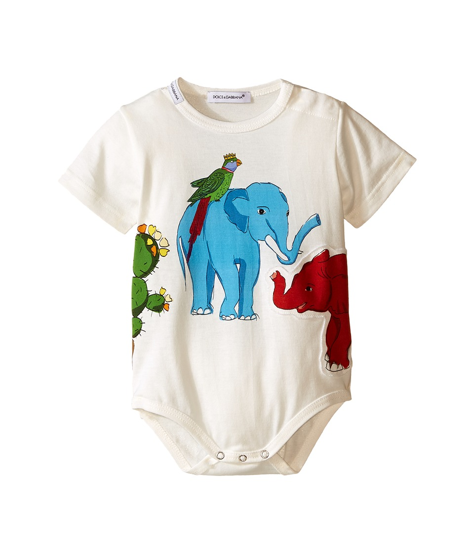 Dolce & Gabbana Kids - Creatures One-Piece (Infant) (White Print) Boy's Jumpsuit & Rompers One Piece