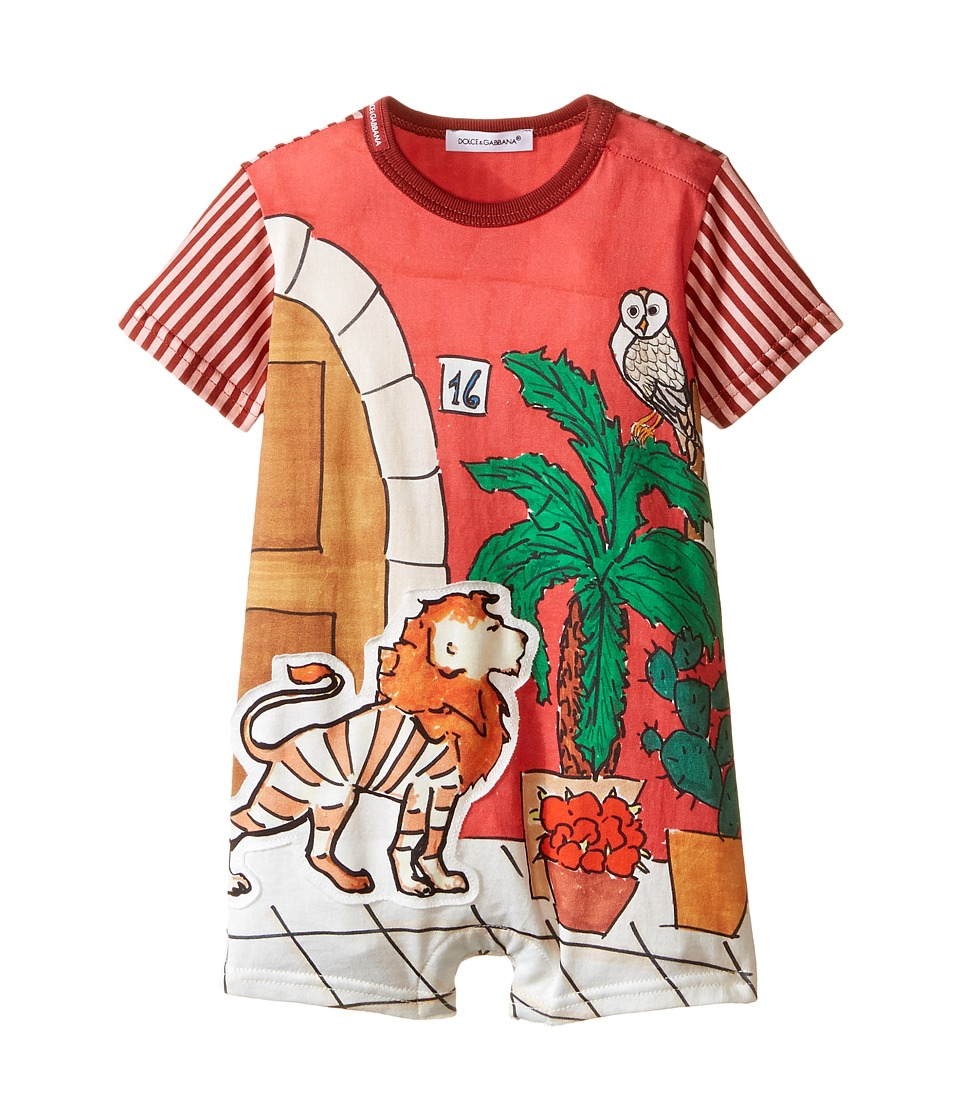 Dolce & Gabbana Kids - Cactus One-Piece (Infant) (Red Print) Boy's Jumpsuit & Rompers One Piece