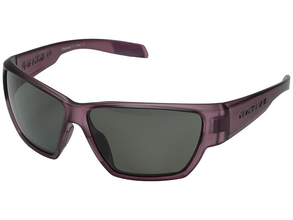 Native Eyewear - Wolcott (Mulberry/Gray) Sport Sunglasses