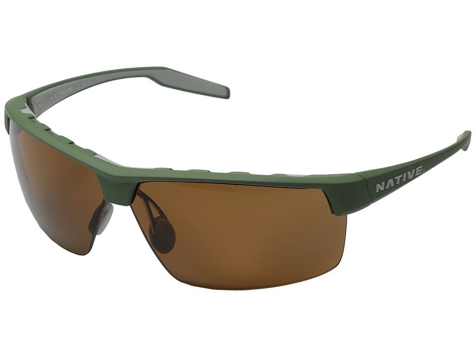 Native Eyewear - Hardtop Ultra XP (Fraser Green/Dark Gray/Brown) Sport Sunglasses