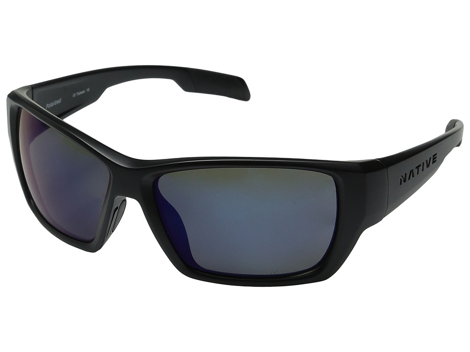 Native Eyewear - Ward (Asphalt/Blue Reflex) Sport Sunglasses
