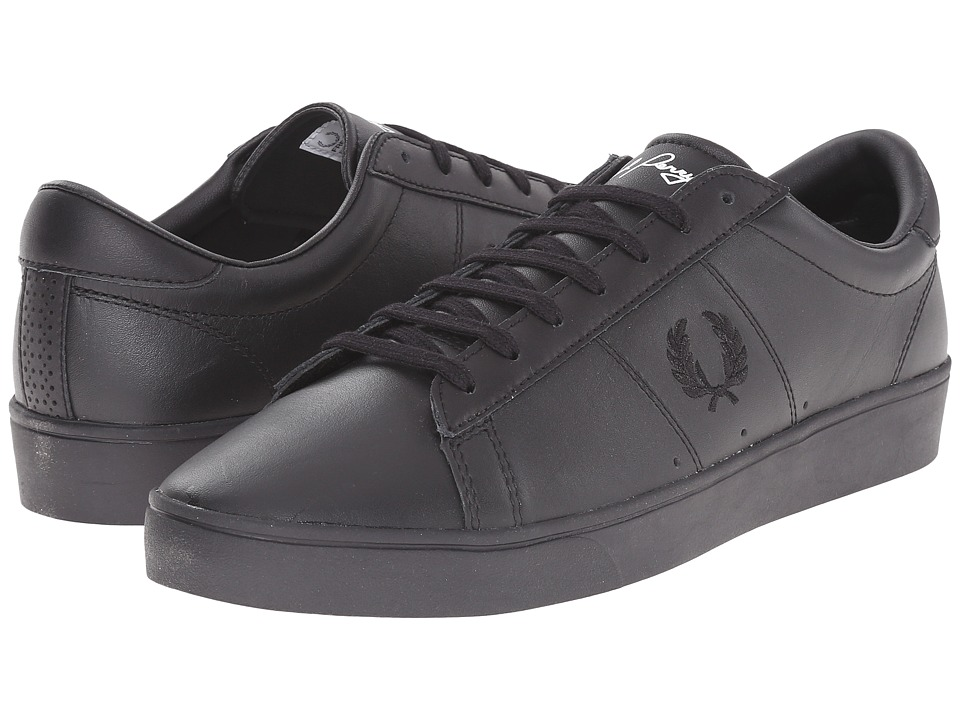 Fred Perry - Spencer Leather (Black) Men's Lace up casual Shoes