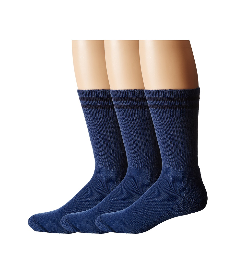 Thorlos - Uniform Crew 3-Pair Pack (Postal Blue/Blue) Crew Cut Socks Shoes