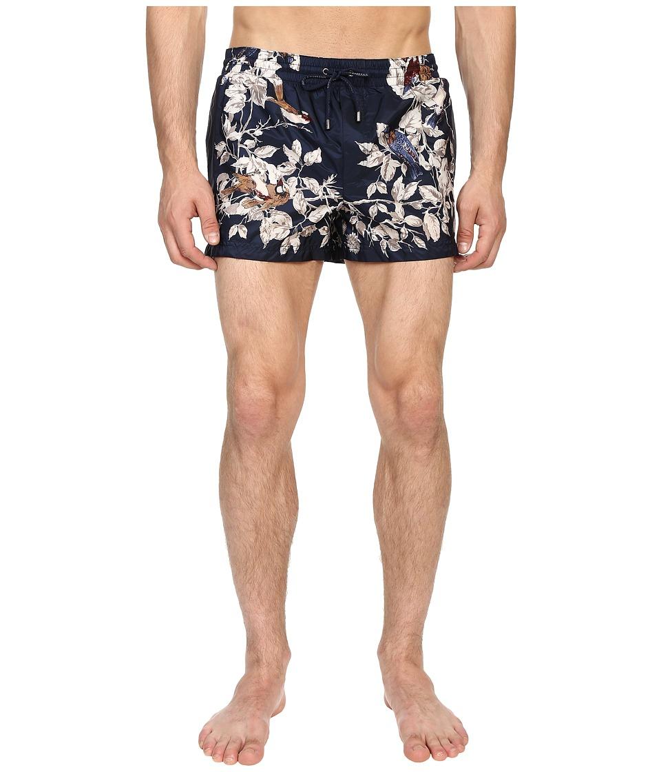 Dolce & Gabbana - Beachwear Shorts (Navy/Print) Men's Underwear