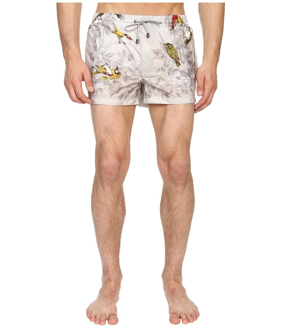 Dolce & Gabbana - Beachwear Shorts (White/Print) Men's Underwear