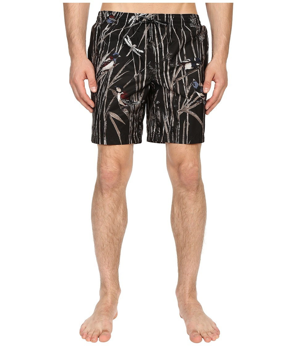 Dolce & Gabbana - Beachwear Shorts (Black/Print) Men's Underwear