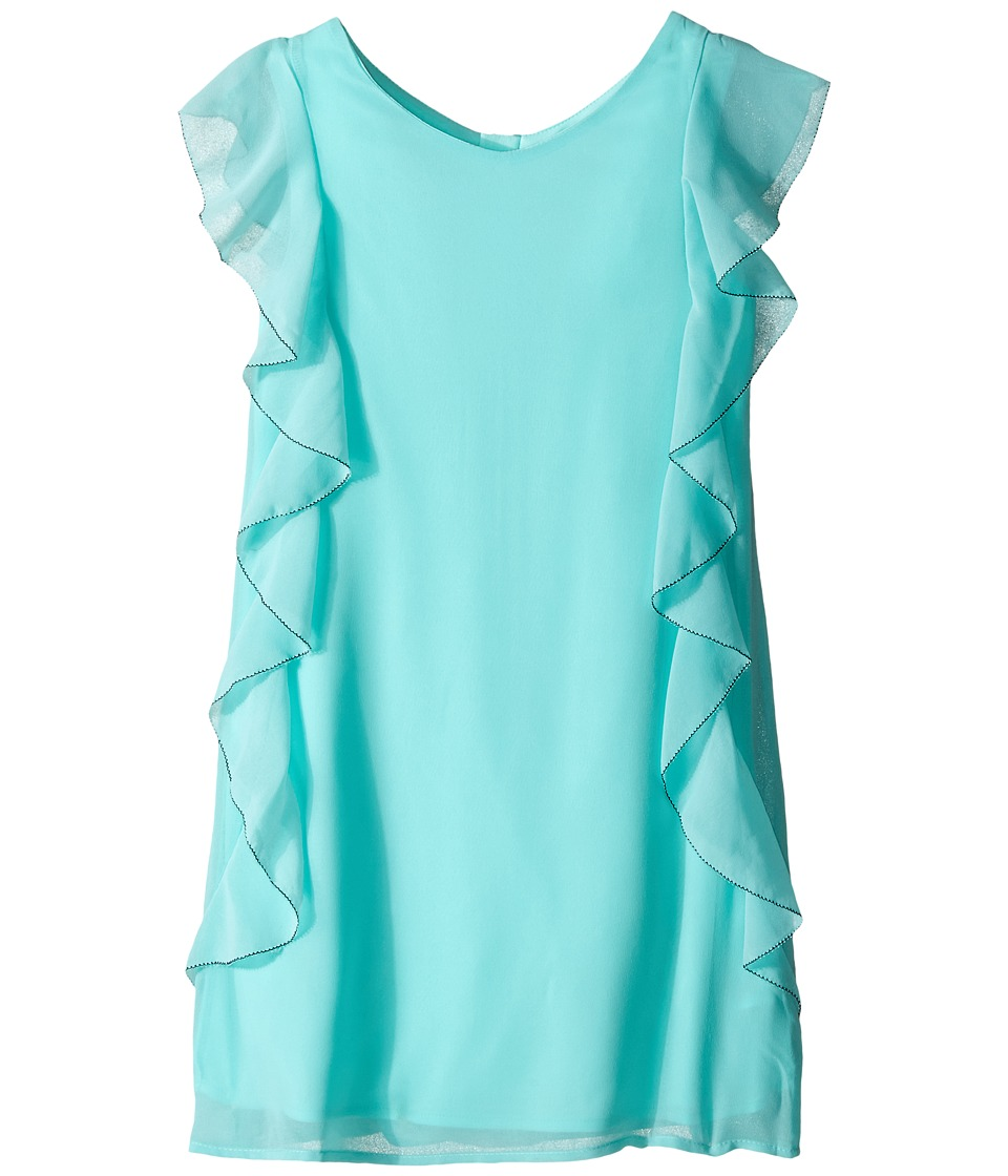 Ella Moss Girl - Eden Asymmetrical Dress (Big Kids) (Aqua) Girl's Dress