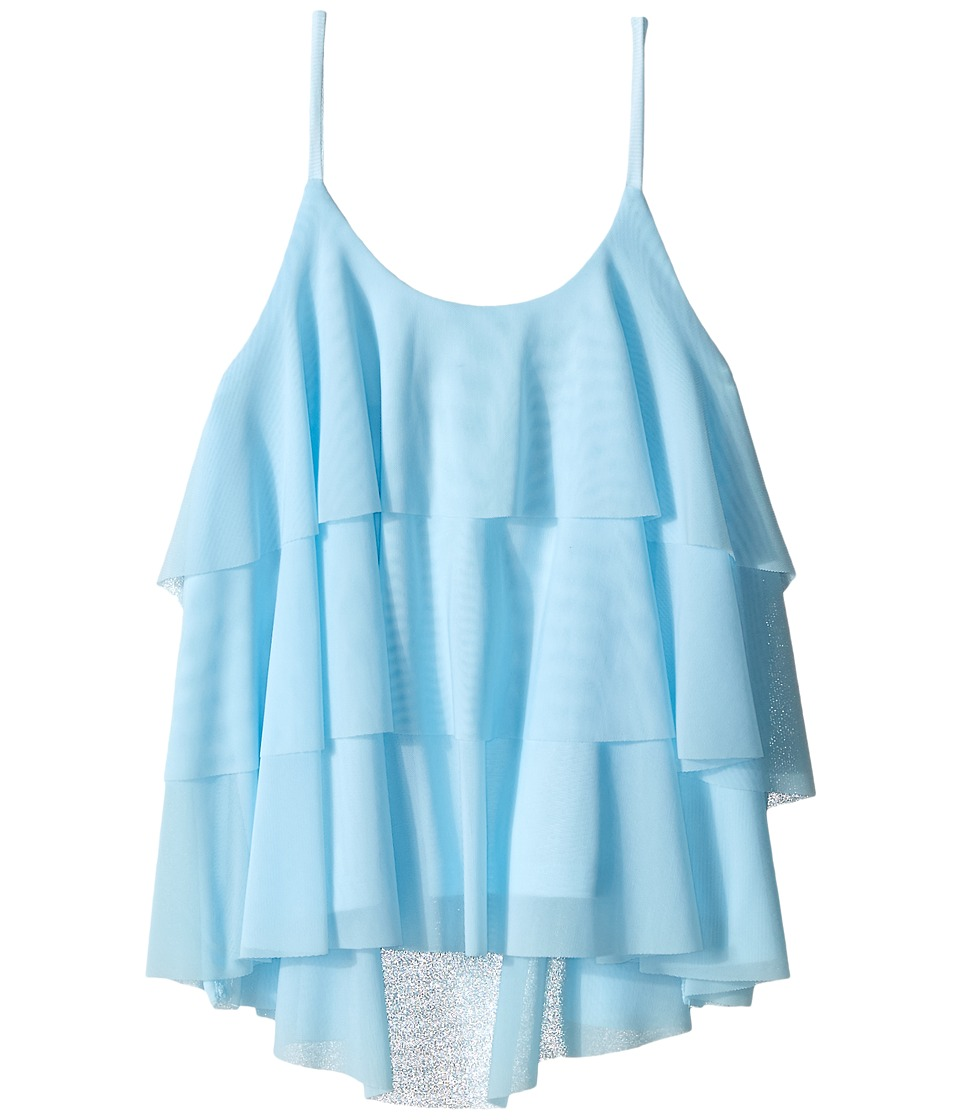 Ella Moss Girl - Adele Ruffle Top (Big Kids) (Light Blue) Girl's Blouse
