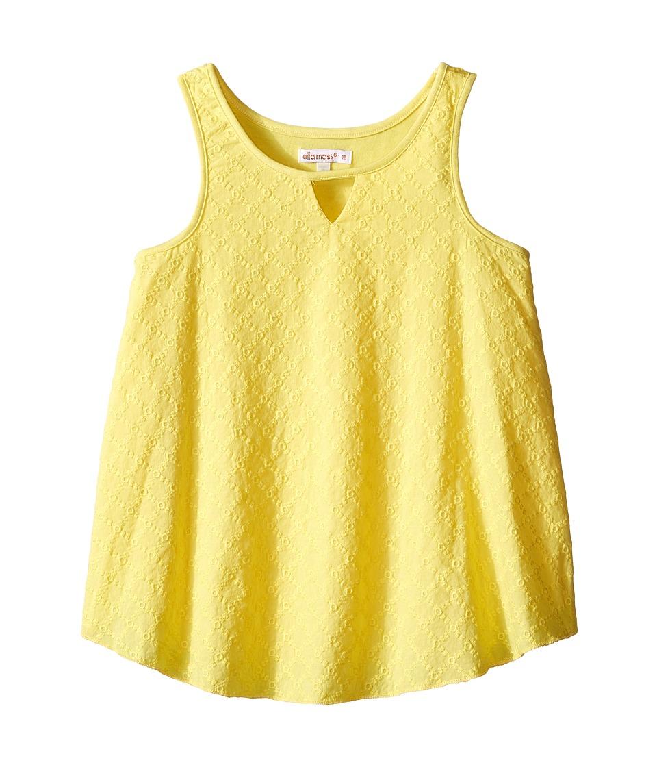 Ella Moss Girl - Blaire Woven Tank Top (Big Kids) (Yellow) Girl's Sleeveless