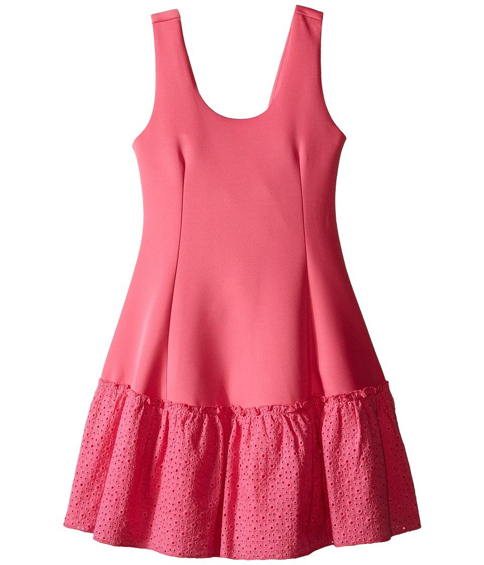 Ella Moss Girl - Anneka Drop Waist Tulip Dress (Big Kids) (Pink) Girl's Dress