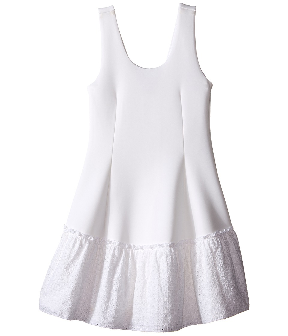 Ella Moss Girl - Anneka Drop Waist Tulip Dress (Big Kids) (White) Girl's Dress