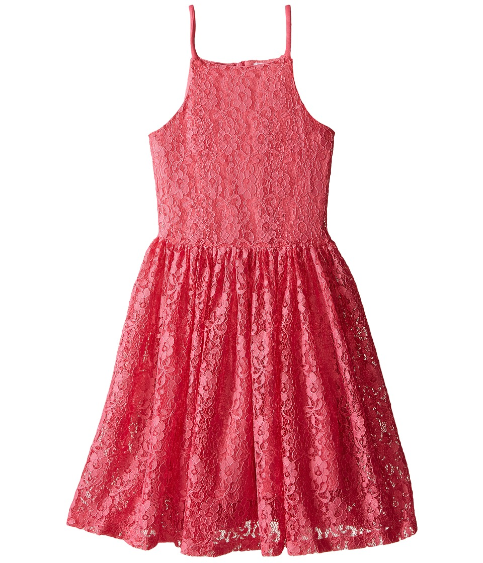Ella Moss Girl - Bria Sleeveless Lace Dress (Big Kids) (Pink) Girl's Dress