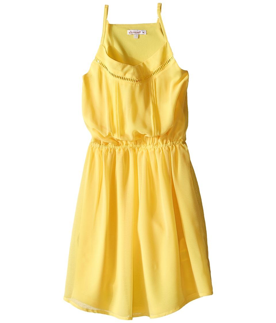 Ella Moss Girl - Elastic Waist Pleated Dress (Big Kids) (Yellow) Girl's Dress