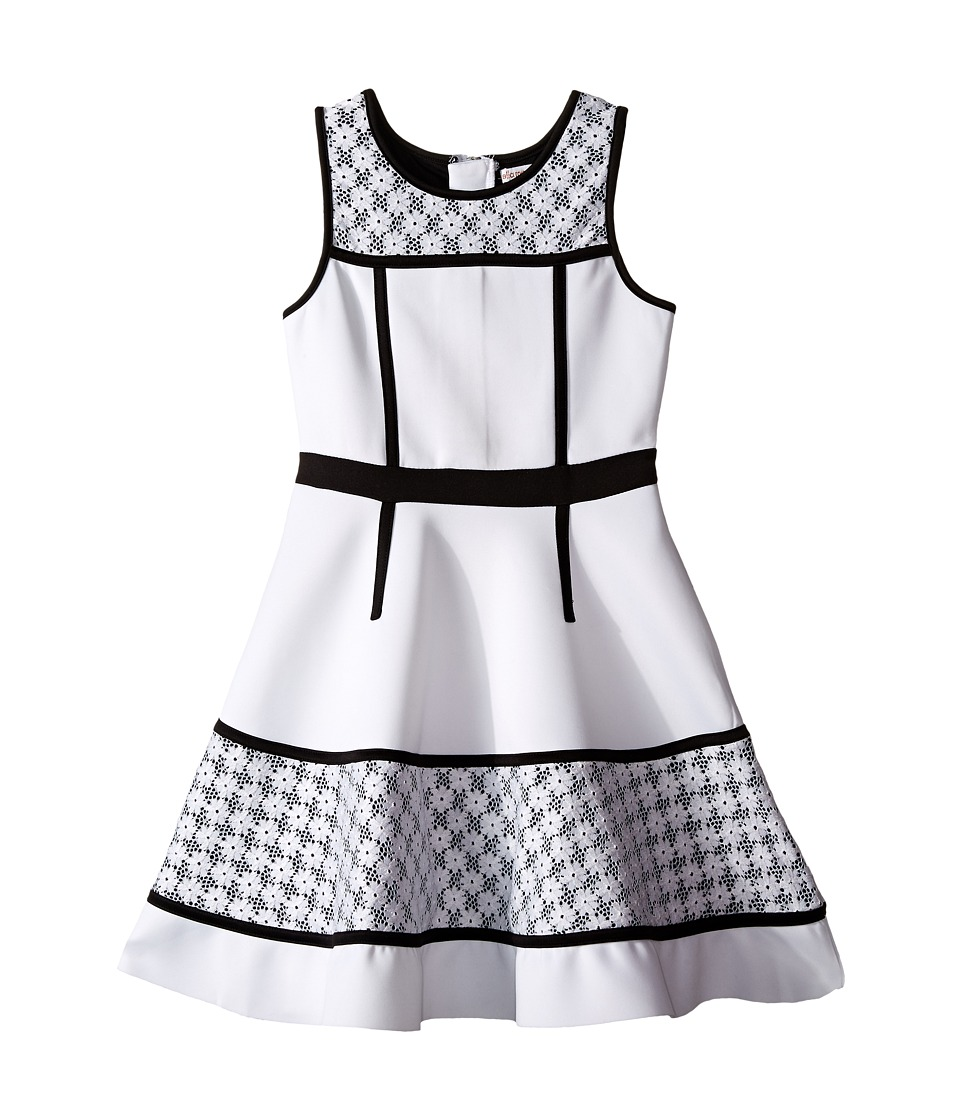 Ella Moss Girl - Anneka Fit Flare Lace Dress (Big Kids) (White) Girl's Dress