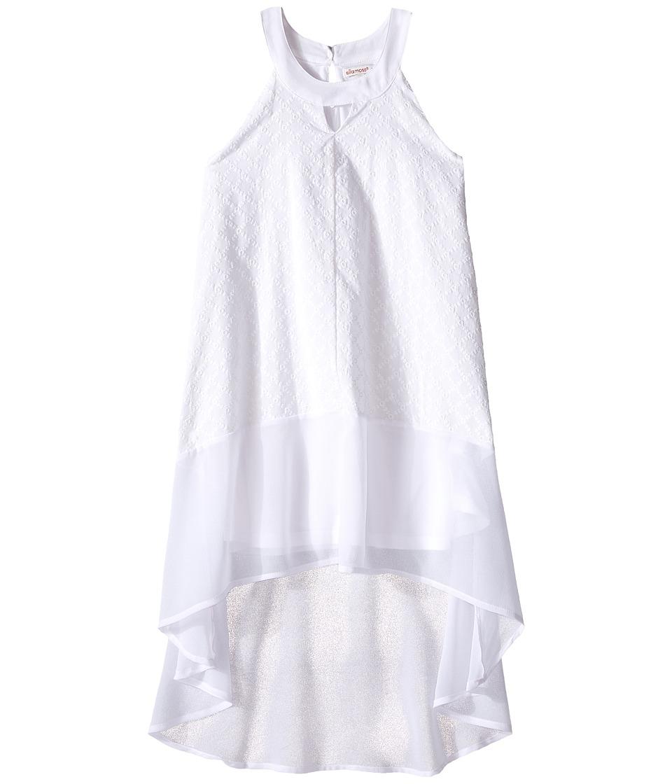 Ella Moss Girl - Blaire Halter A-Line Dress (Big Kids) (White) Girl's Dress