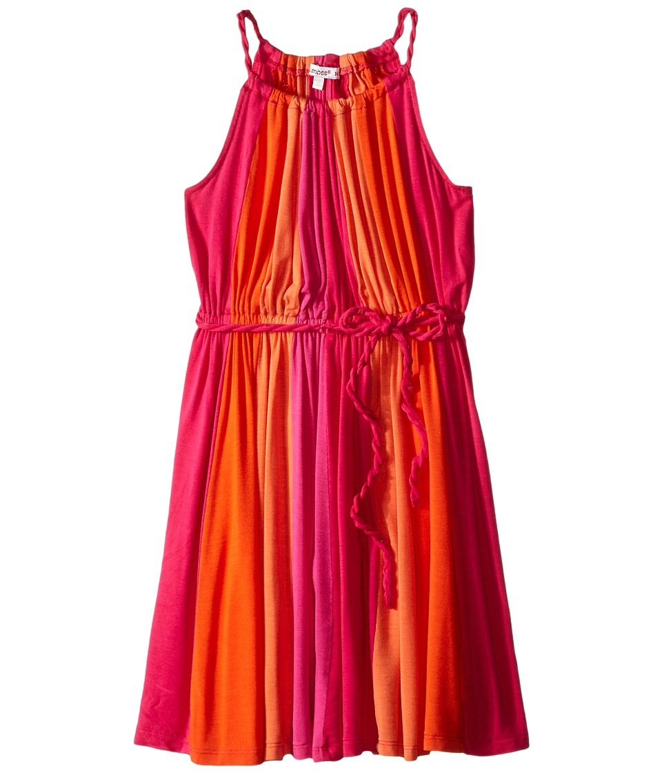 Ella Moss Girl - Bella Twisted Color Block Dress (Big Kids) (Dark Pink) Girl's Dress