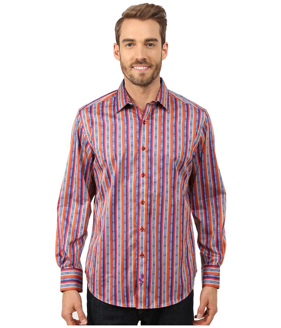 Robert Graham - George Bailey Long Sleeve Woven Shirt (Tangerine) Men's Long Sleeve Button Up