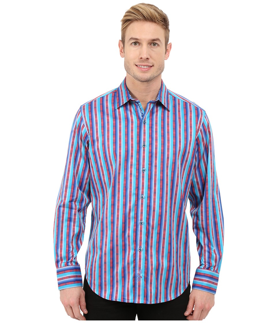Robert Graham - George Bailey Long Sleeve Woven Shirt (Blue) Men's Long Sleeve Button Up
