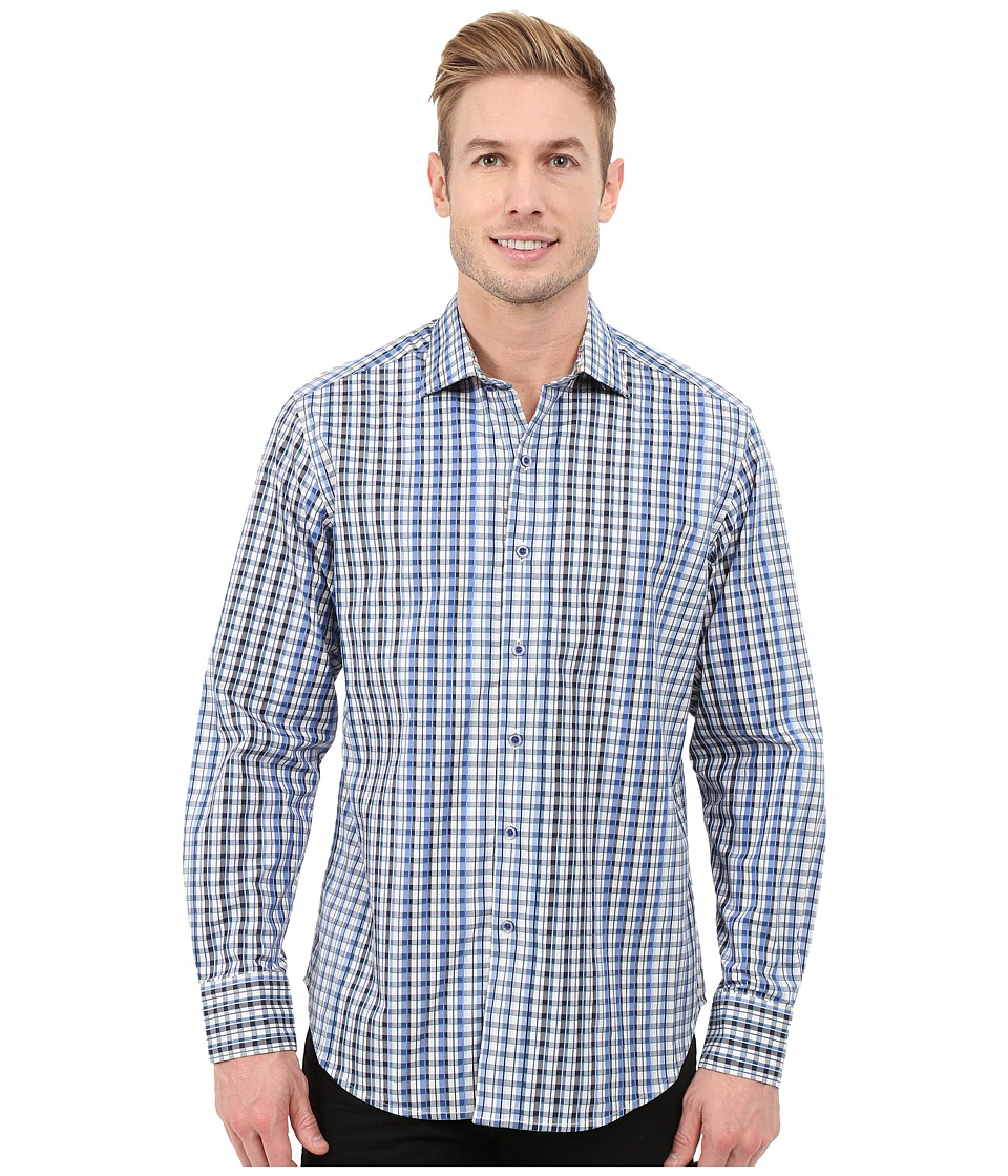 Robert Graham - Rusty Long Sleeve Woven Shirt (Blue) Men's Long Sleeve Button Up