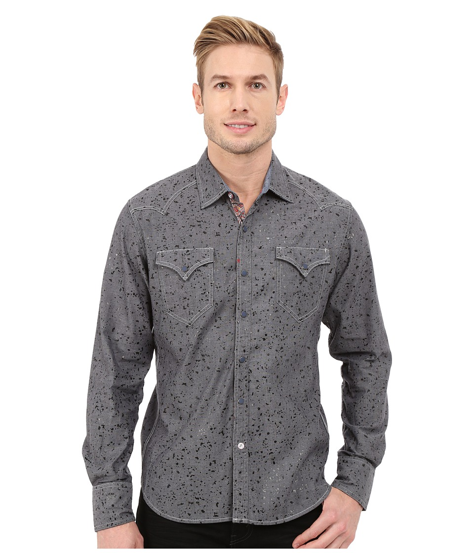 Robert Graham - Norwegian Long Sleeve Woven Shirt (Grey) Men's Long Sleeve Button Up
