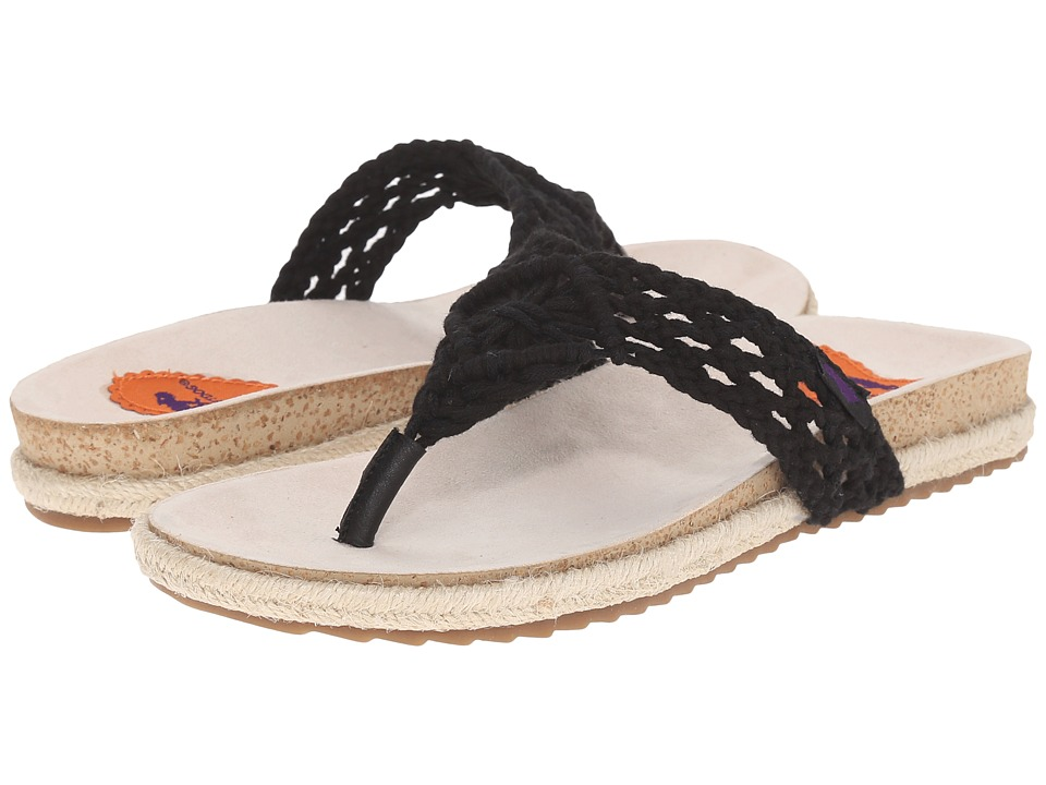 Rocket Dog - Fairytale (Black Macrame Rope) Women's Sandals
