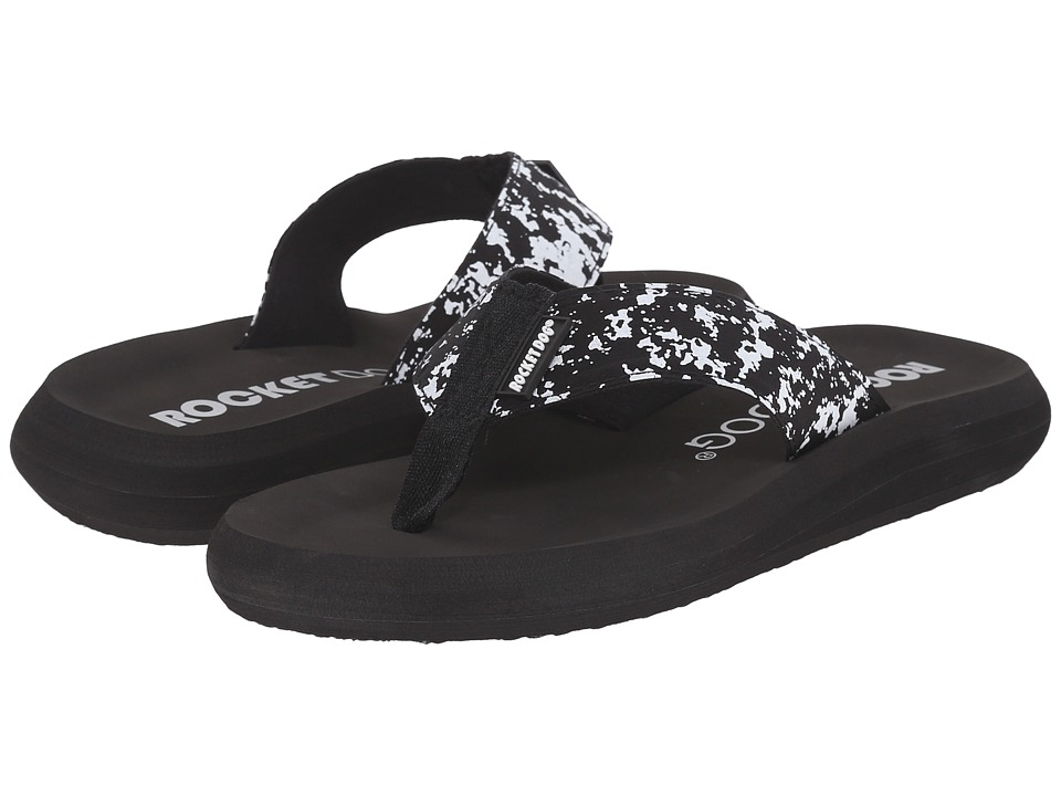 Rocket Dog - Spotlight Comfort (Black Marble) Women's Sandals