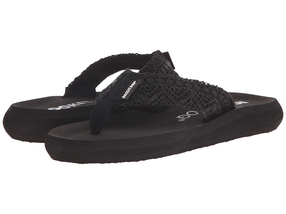 Rocket Dog - Spotlight Comfort (Black Lima Crochet) Women's Sandals