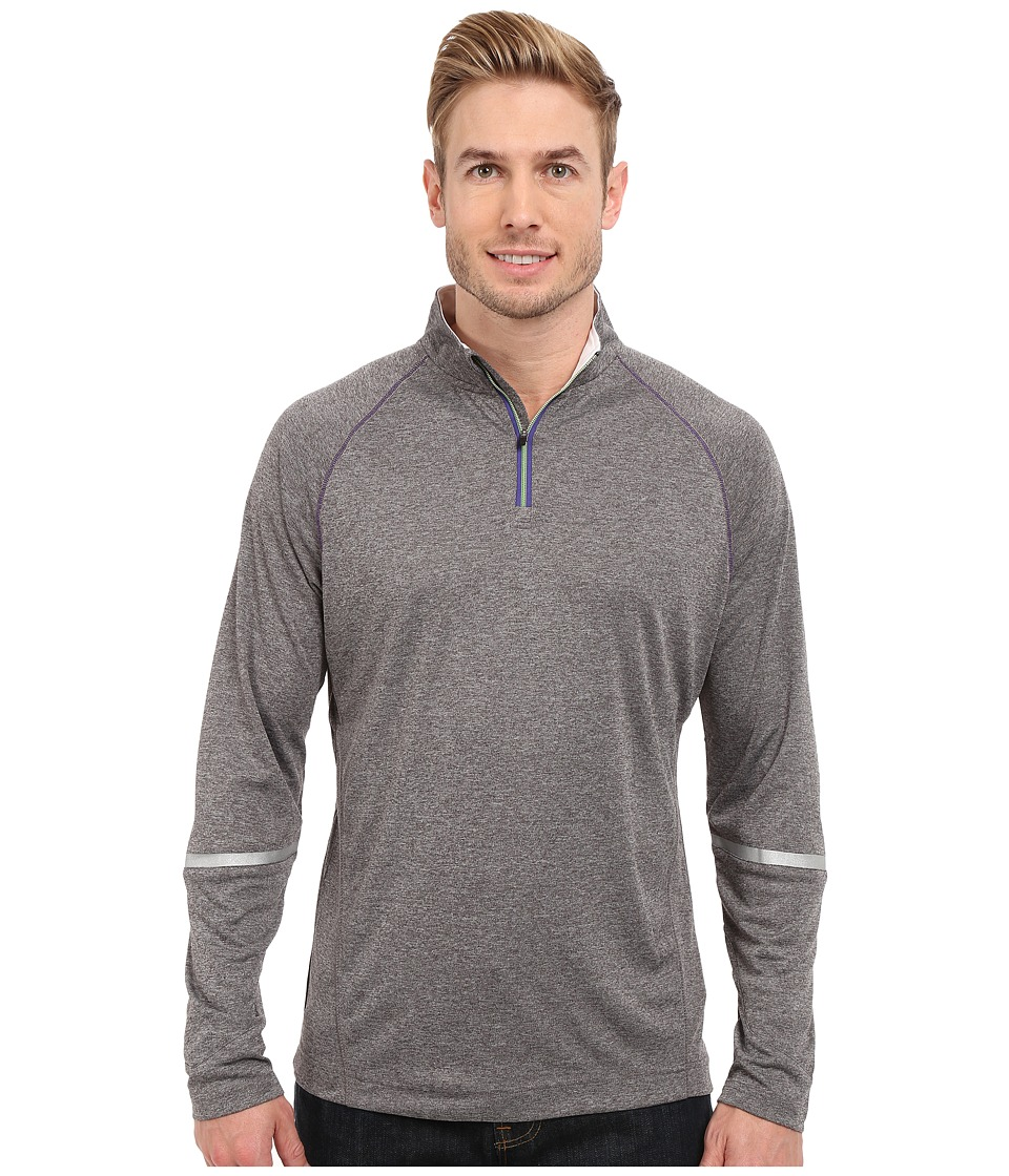 Robert Graham - Quad Long Sleeve 1/4 Zip Knit (Charcoal) Men's Clothing