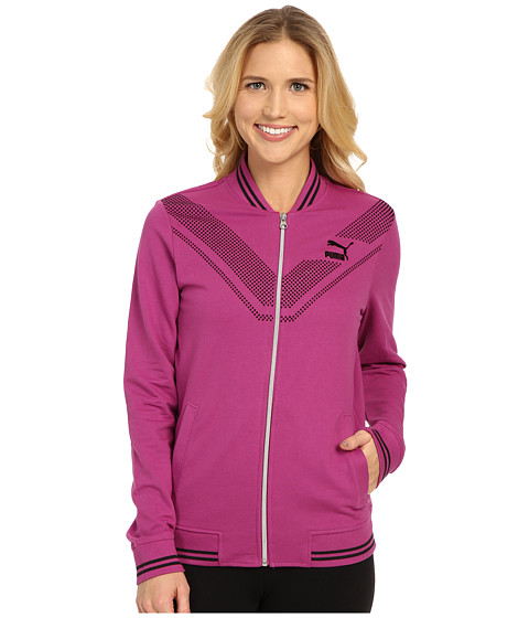 PUMA - V-Line Zip Through (Vivid Viola/Black) Women's Coat