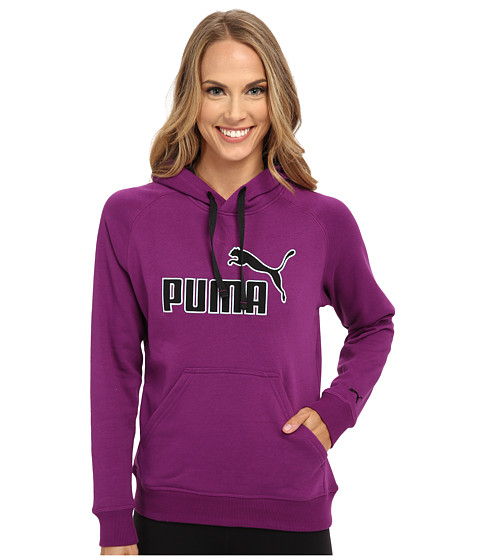PUMA - No 1 Logo Hoodie (Grape Juice) Women's Sweatshirt