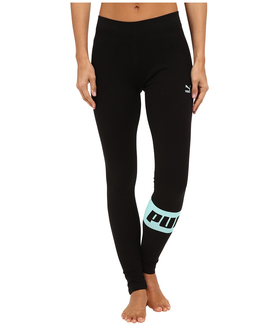 PUMA - Icon Leggings (Black) Women's Casual Pants