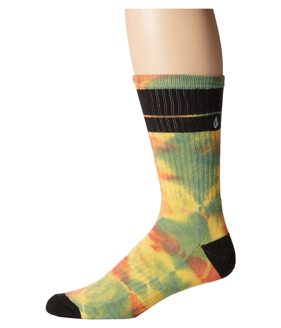 Volcom - Quarta Sock (Faded Lemon) Men's Crew Cut Socks Shoes