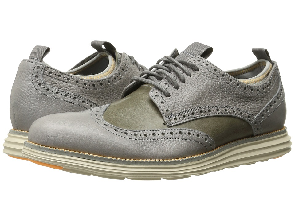 Cole Haan - Original Grand Neoprene Lined Wing Oxford (Ironstone/Orange Fizz) Men's Lace up casual Shoes