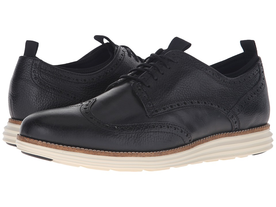 Cole Haan - Original Grand Neoprene Lined Wing Oxford (Black) Men's Lace up casual Shoes