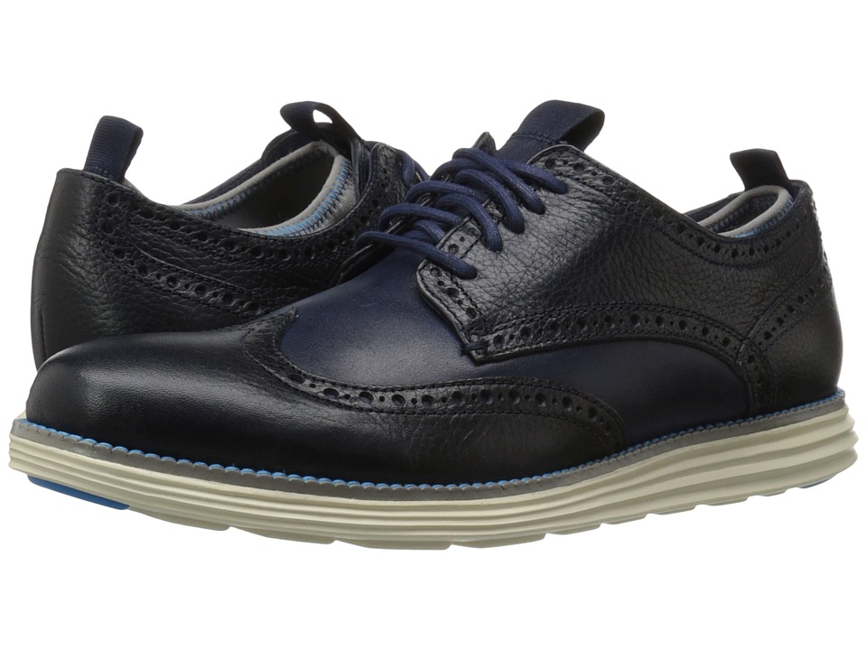 Cole Haan - Original Grand Neoprene Lined Wing Oxford (Marine Blue/Ultra Blue) Men's Lace up casual Shoes