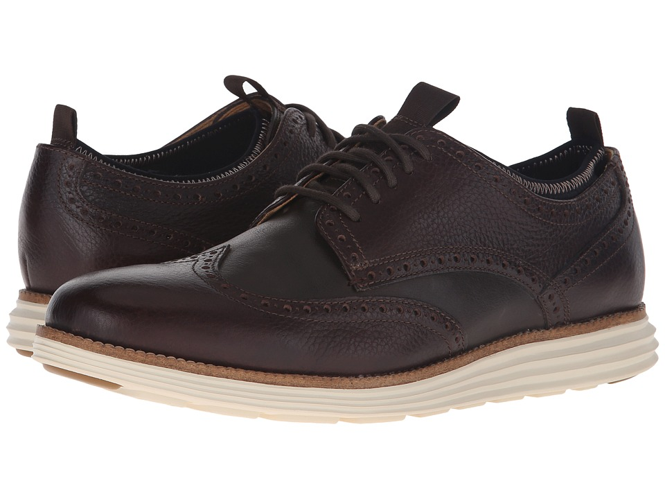 Cole Haan - Original Grand Neoprene Lined Wing Oxford (Java) Men's Lace up casual Shoes