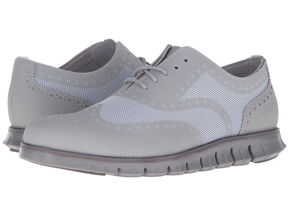 Cole Haan - Cole Haan Zerogrand OX No Stitch (Silver Mist/Ironstone) Men's Lace Up Wing Tip Shoes