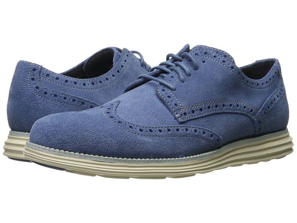 Cole Haan - Original Grand Wingtip (Harbor/Ivory) Men's Lace Up Wing Tip Shoes